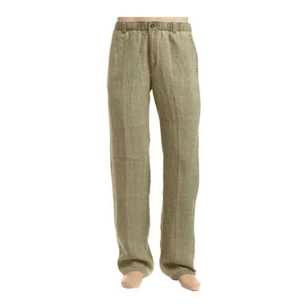 a6e727bb72 Shop Tommy Bahama Men's Beach Linen Pant Stone Khaki - Free Shipping Today  - Overstock - 20268967