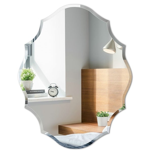 Mirror Trend Beveled Accent Frameless Wall Mirror. Opens flyout.