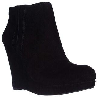 Jessica Simpson Calwell Platform Wedge Booties - Black