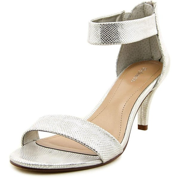Style & Co Paycee Women Open Toe Synthetic Silver Sandals