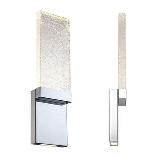 "Modern Forms WS-12721 Glacier 21"" Height LED Dimming Bathroom Sconce - Chrome - n/a"
