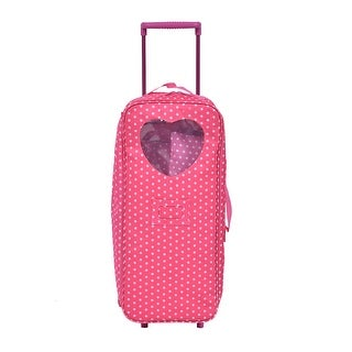 Costway 18'' Doll Travel Carrier Trolley Case With Bed And Bedding Girls Christmas Gift