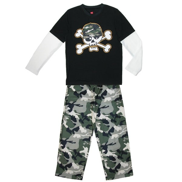 Hanes Boys' Camouflage Pajama Set