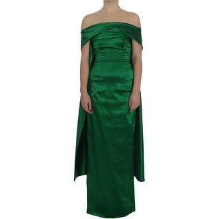 Dolce & Gabbana Green Full Length Ball Gown Sheath Dress - it40-s