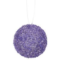 "3ct Lavender Purple Sequin and Glitter Drenched Christmas Ball Ornaments 4.75"" (120mm)"