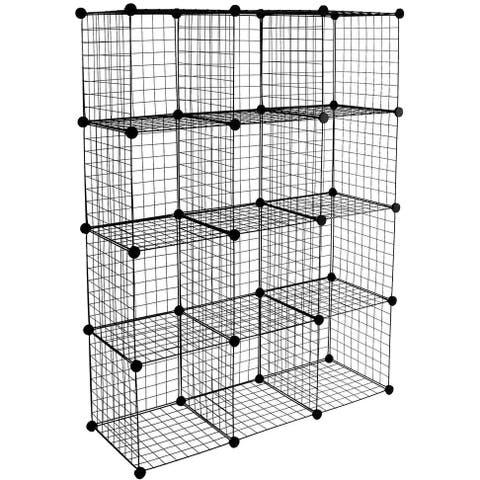 Work-It! 12-Cube Wire Storage Organizer