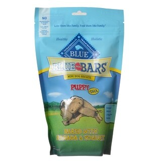 Blue Buffalo Blue Mini Bars Dog Biscuits for Puppies Baked with Banana and Yogurt 8 oz