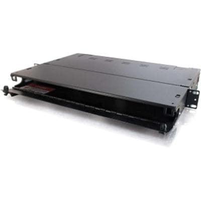 Cables To Go 39101 Q-Series 1U 3-Panel Rackmount Fiber Optic Enclosure (Black)