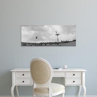 Easy Art Prints Panoramic Image 'Tourists on the beach, Coney Island, Brooklyn, New York City, New York' Canvas Art