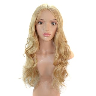 Golden Yellow Central Parting Wig Hair Pack Cap