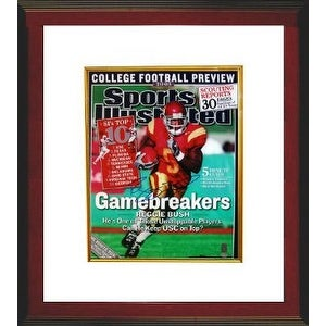 Reggie Bush signed USC Trojans Sports Illustrated 16x20 Photo Custom Framed- Bush Hologram