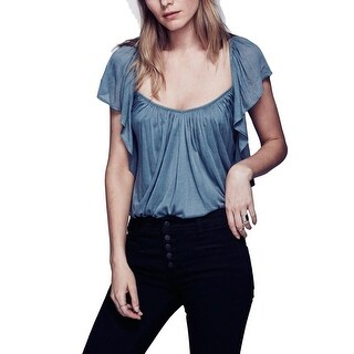 Free People Womens Forever Always Blouse Popover V-Neck