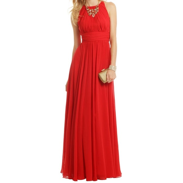 db9591b6e4 Shop Badgley Mischka NEW Ruby Red Women's Size 8 Empire Waist Gala ...