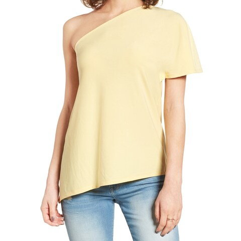 Leith Light Women's Large One-Shoulder Solid Blouse