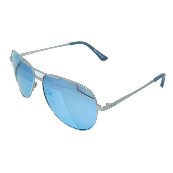 5831ee92835 Shop Revo Eyewear Sunglasses Johnston Satin Silver with Polarized Blue  Water Lenses - Free Shipping Today - Overstock - 18506120