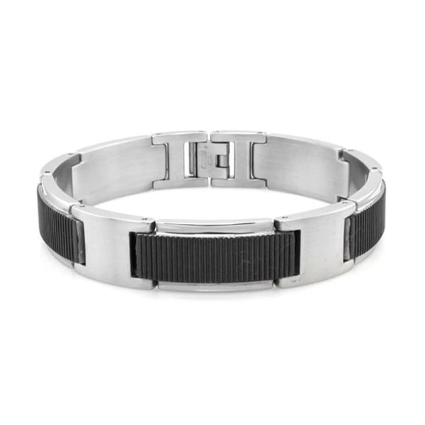 Two-Tone Stainless Steel Gladiator Bracelet - 8.5 inches