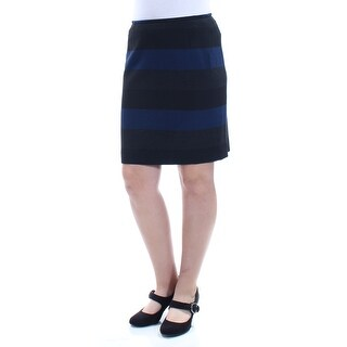 Womens Black Color Block Wear To Work Skirt Size 8