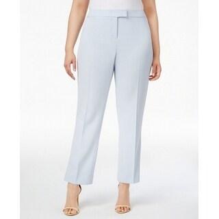 Anne Klein NEW Harbor Blue Women Size 20W Plus Straight Leg Dress Pants