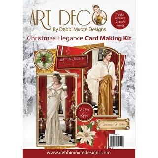Debbi Moore A4 Cardmaking Kit W/24 Sheets-Art Deco Christmas Elegance