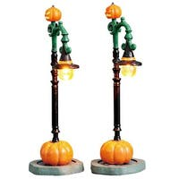 Lemax Spooky Town Witch Pumpkin Patch Lights, Set of 2, B/O (4.5V) #74217