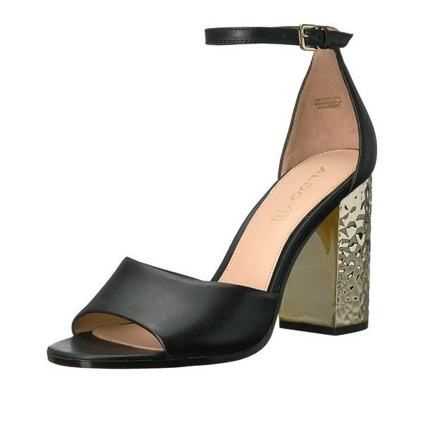 ALDO Womens Nilia Two Piece Block Heel Sandals Black - 6 b(m)