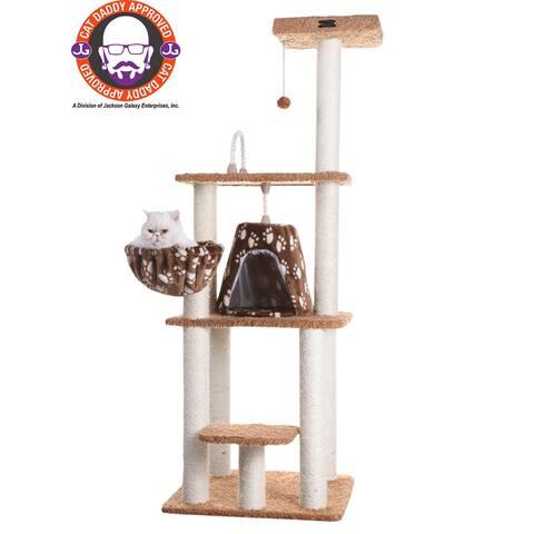 "Armarkat 64"" Chocolate Cat Tree Model - 64 inch"