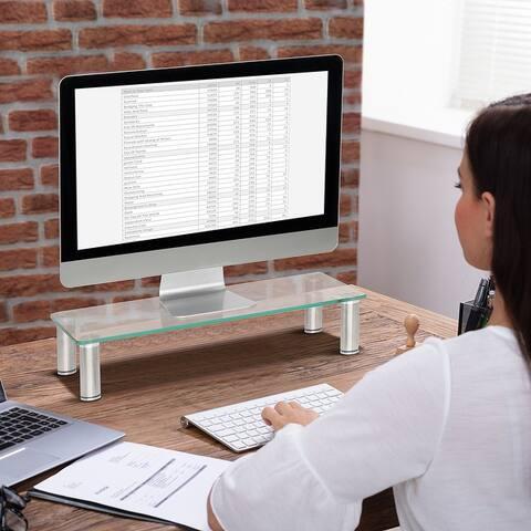 Computer Monitor Riser Multi Media Desktop Stand for Flat Screen TV