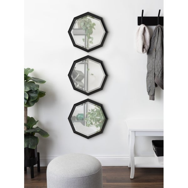 Kate and Laurel Calter Octagon Framed Mirror Set. Opens flyout.