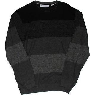 Ryan Seacrest Mens Textured Colorblock Crewneck Sweater