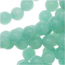 Pale Aqua Green Grade AA Amazonite 4mm Round Gemstone Beads - 15.5 Inch Strand