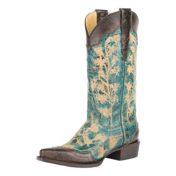 Stetson Western Boots Womens Wingtip Embroidery