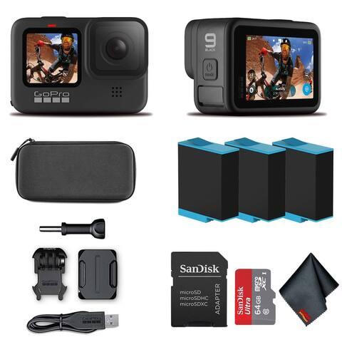 GoPro HERO9 Black - Waterproof Camera 64GB Card and 2 Extra HERO9