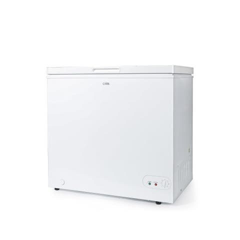 """Commercial Cool Chest Freezer Stand Up 7.0 Cubic Feet, White - 7'10"""" x 10'6"""""""