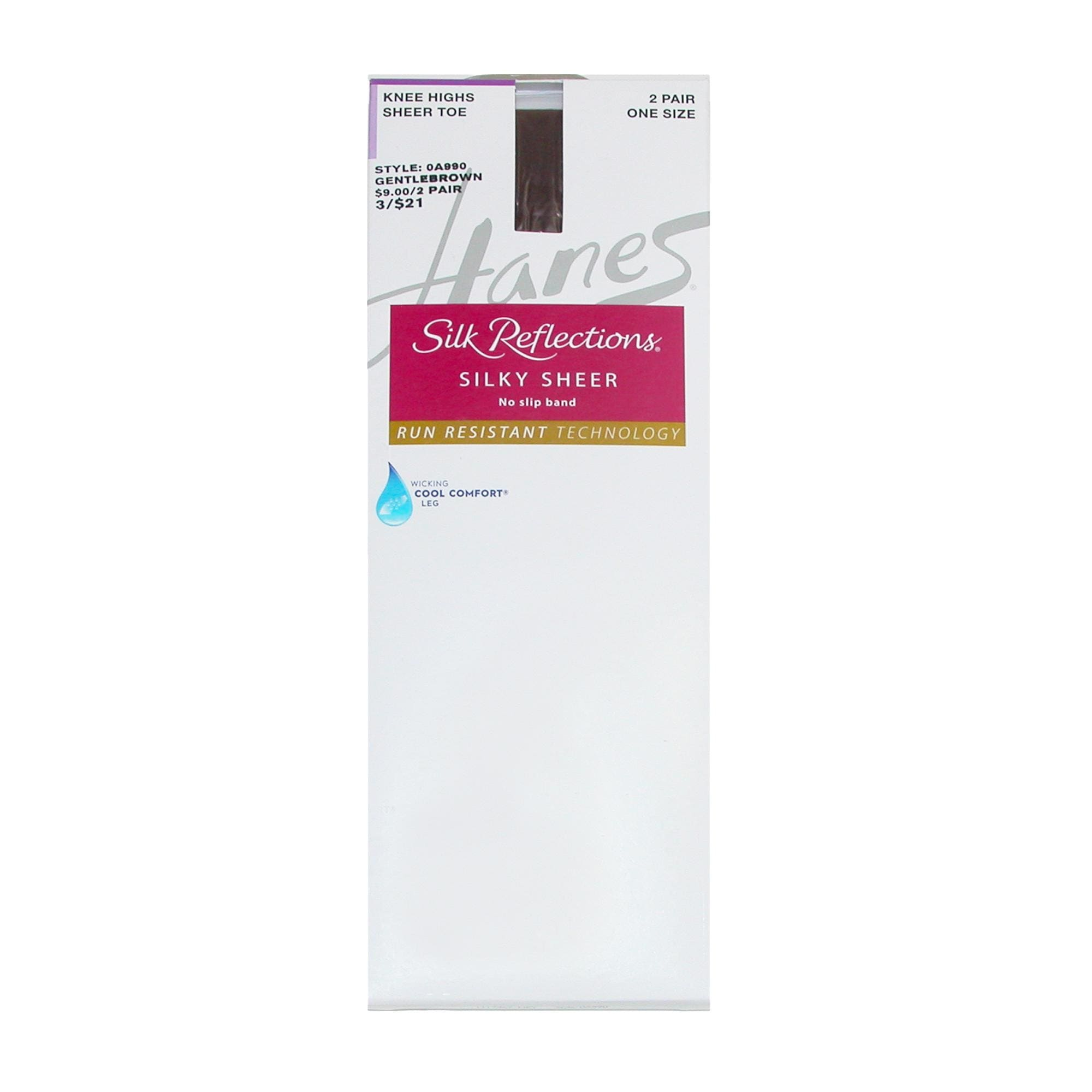 76adfd4cdbbc9 Shop Hanes Silk Reflections Run Resistant Sheer Knee Highs (2 Pair Pack) -  Free Shipping On Orders Over $45 - Overstock - 22315276