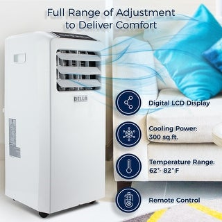 10,000 BTU Portable Air Conditioner Cooling Fan White