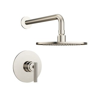 Jacuzzi MX868 Salone Shower Trim Package with Rain Shower Head with Rough-In Valve Included