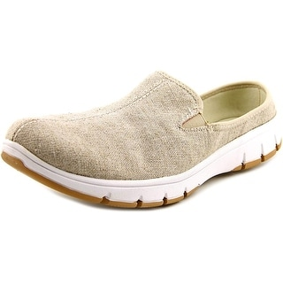 Easy Street Kana Women WW Round Toe Canvas Mules