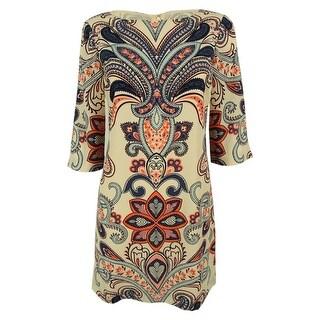 INC International Concepts Women's 3/4 Sleeve Shift Dress