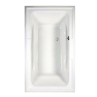 "American Standard 2742.068C Town Square 71-1/2"" Acrylic Air Bathtub with Center Drain, Heated Air Blower, and EverClean"