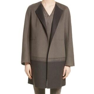 Lafayette 148 NEW Gray Lead Women's Size Large L Hayes Needle Coat