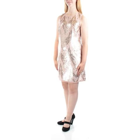a91d1cad9288 VINCE CAMUTO Womens Pink Sleeveless Jewel Neck Above The Knee Sheath Party  Dress Size: 6