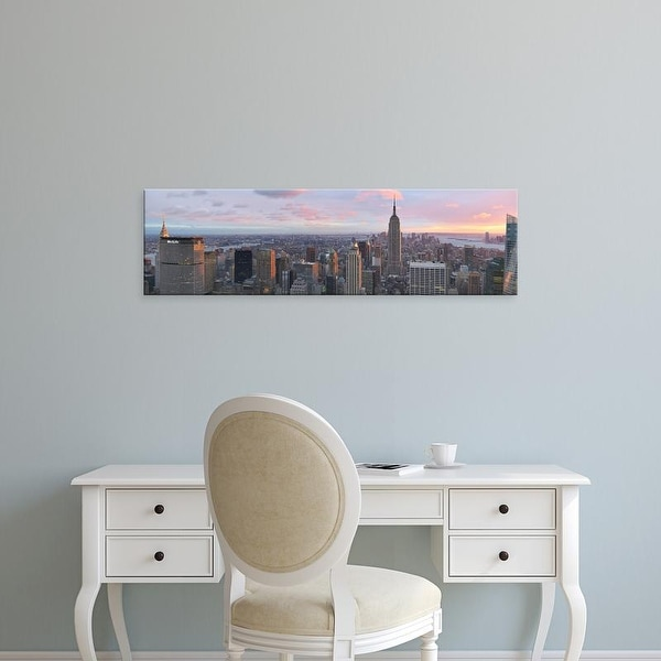 Easy Art Prints Panoramic Images's 'Aerial view of a city, Midtown Manhattan, Manhattan, New York City' Canvas Art