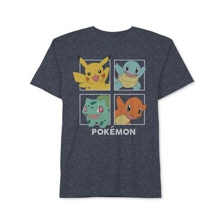 Pokemon Mens T-Shirt Graphic Speckled