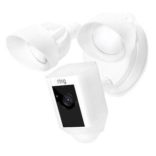 RING Floodlight Camera W/ Bonus Chime Pro & 12 Months Ring Video Cloud Recording - 12 x 10 x 3