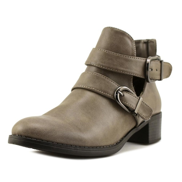 Easy Street Badge Round Toe Synthetic Ankle Boot