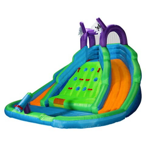 Bounce House w/ Climbing Wall, Water Slide, Pool, and Blower - Cloud 9