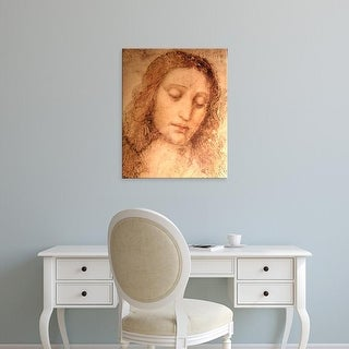 Easy Art Prints Leonardo da Vinci's 'Study of Christ for the Last Supper detail' Premium Canvas Art
