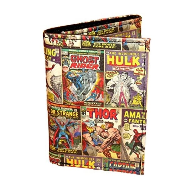Marvel Mens Multi Character Trifold Wallet Faux Leather Graphic - o/s