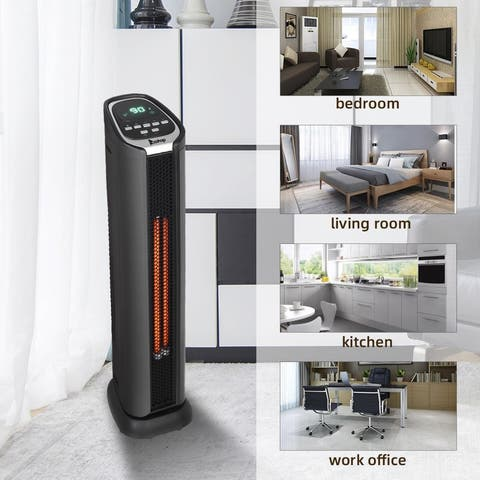 Heater Space Heater Electic Infrared Heater w/Remote 750/1500W with Overheat Protection