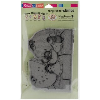 """Stampendous House Mouse Cling Stamp 7.75""""X4.5""""-Summer Snacking"""